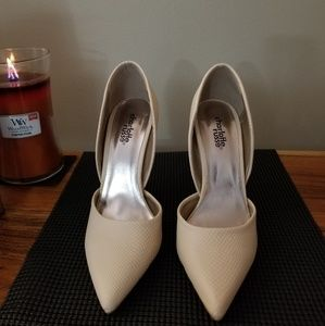 Charlotte Russe cream high heels